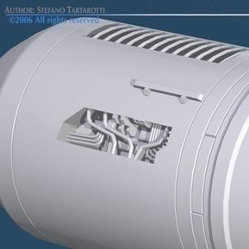 spaceship engine 3d model 3ds dxf obj 78873