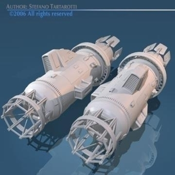 spaceship engines 2 3d model 3ds dxf obj 78877