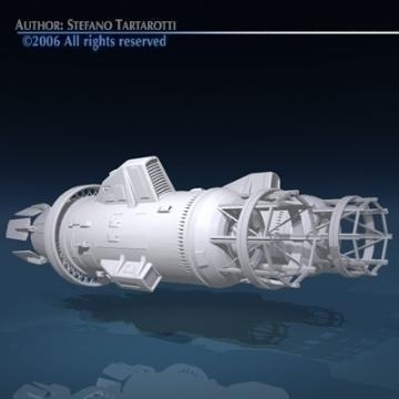 spaceship engines 2 3d model 3ds dxf obj 78878