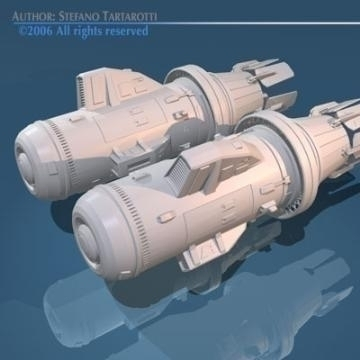 spaceship engines 2 3d model 3ds dxf obj 78882