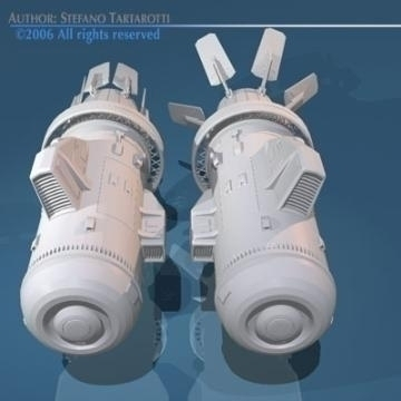 spaceship engines 2 3d model 3ds dxf obj 78883
