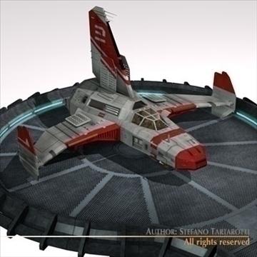 kosmosa kuģis ar nosēšanās piestātni 3d modelis 3ds dxf c4d obj 97219