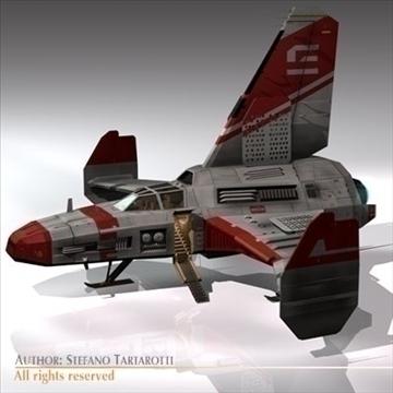 kosmosa kuģis ar nosēšanās piestātni 3d modelis 3ds dxf c4d obj 97220
