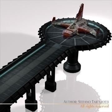 kosmosa kuģis ar nosēšanās piestātni 3d modelis 3ds dxf c4d obj 97222