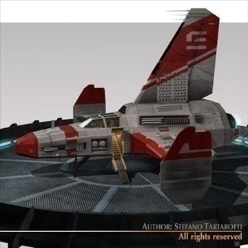 kosmosa kuģis ar nosēšanās piestātni 3d modelis 3ds dxf c4d obj 97223