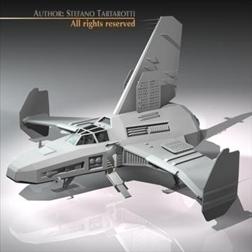 kosmosa kuģis ar nosēšanās piestātni 3d modelis 3ds dxf c4d obj 97224