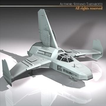 kosmosa kuģis ar nosēšanās piestātni 3d modelis 3ds dxf c4d obj 97225