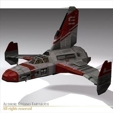 kosmosa kuģis ar nosēšanās piestātni 3d modelis 3ds dxf c4d obj 97227