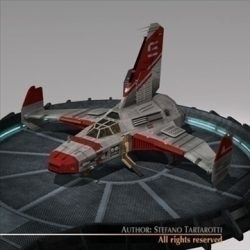 Spaceship with landing dock ( 77.15KB jpg by tartino )