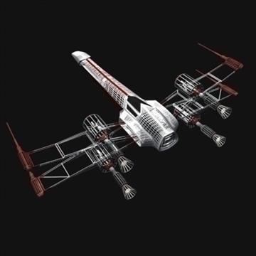 star wars x wing 3d model max 100629