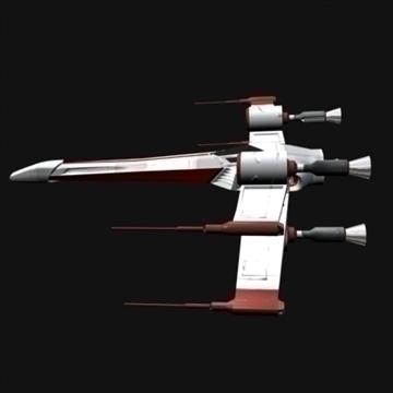 star wars x wing 3d model max 100632