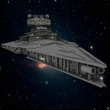 the imperial star destroyer 3d model max obj 109803