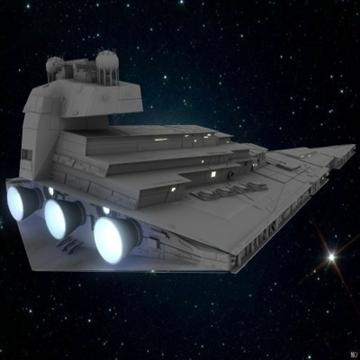 the imperial star destroyer 3d model max obj 109804