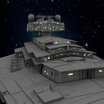 the imperial star destroyer 3d model max obj 109806