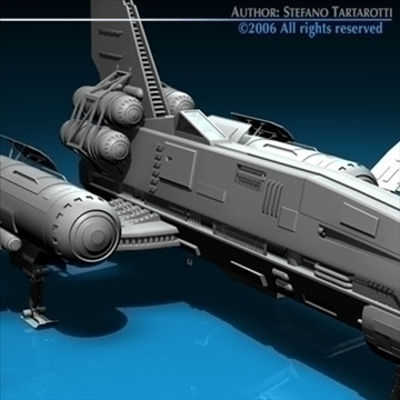 three spaceship and space fighter collection 3d model 3ds dxf c4d obj 82617