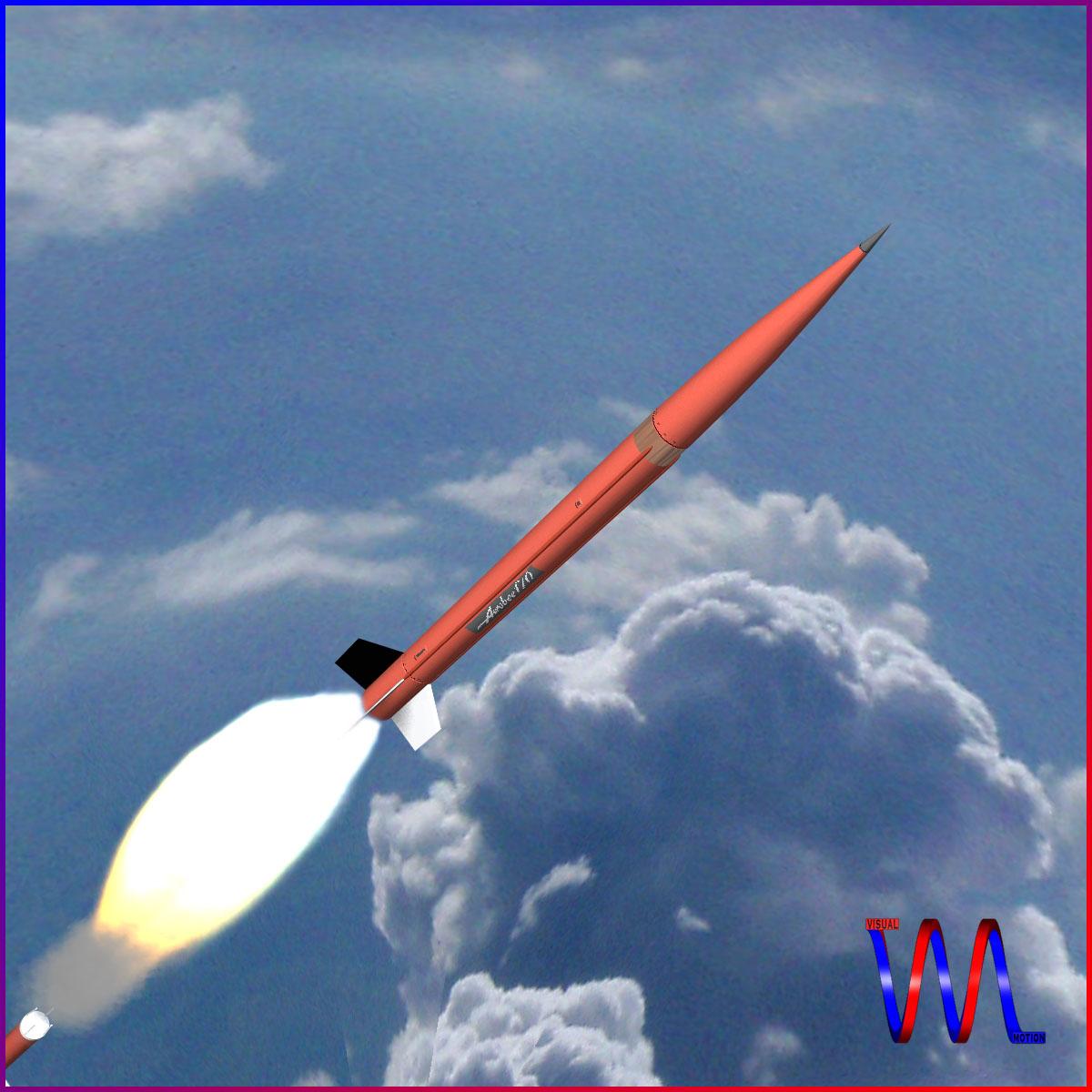 aerobee 170 rocket 3d model 3ds dxf fbx blend cob dae x  obj 166036