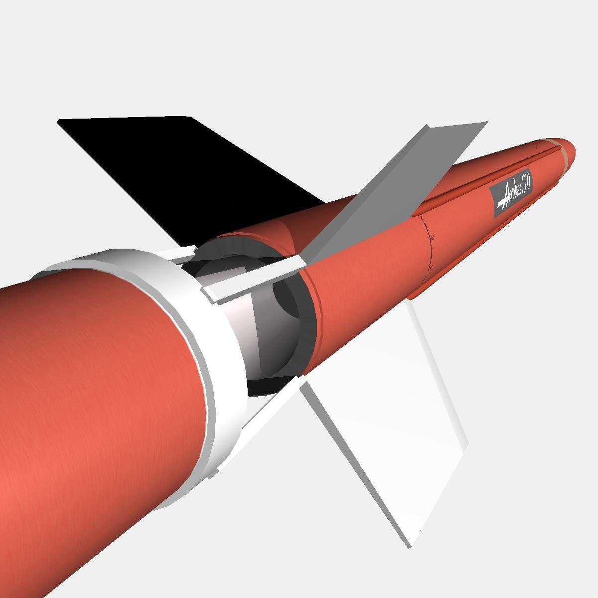 aerobee 170 rocket 3d model 3ds dxf fbx blend cob dae x  obj 166040