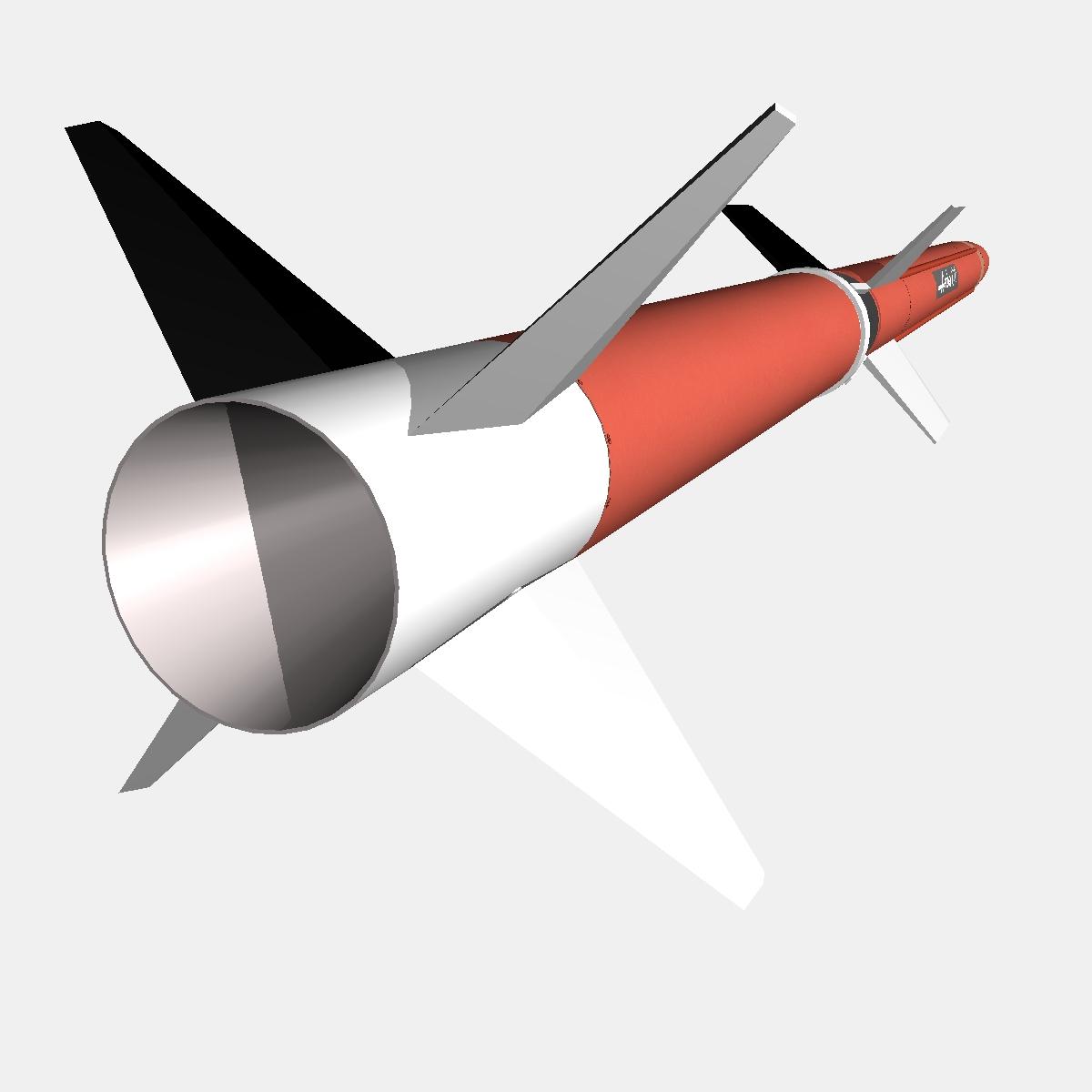aerobee 170 rocket 3d model 3ds dxf fbx blend cob dae x  obj 166041