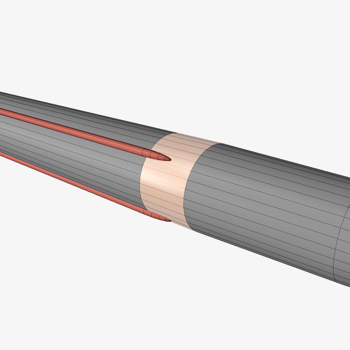 aerobee 170 rocket 3d model 3ds dxf fbx blend cob dae x  obj 166044