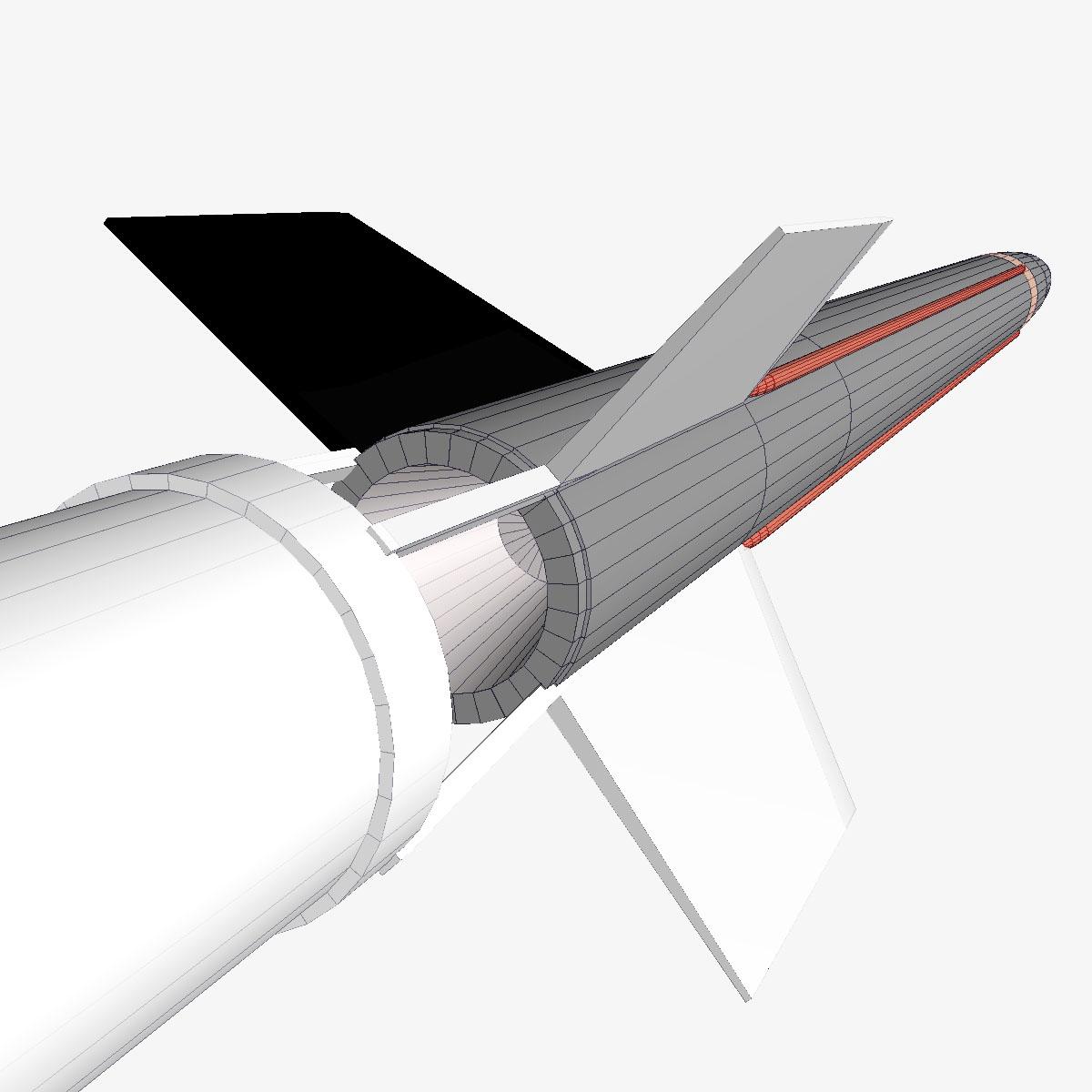 aerobee 170 rocket 3d model 3ds dxf fbx blend cob dae x  obj 166046