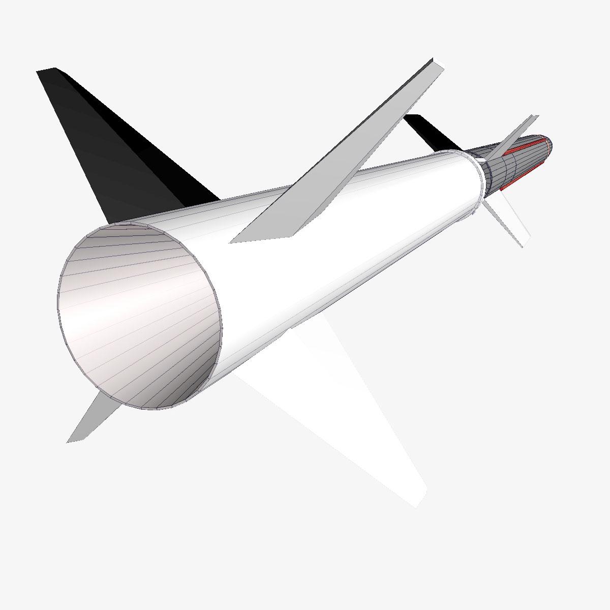 aerobee roicéad 170 3d múnla 3ds dxf fbx cumasc cob dae x obj 166047