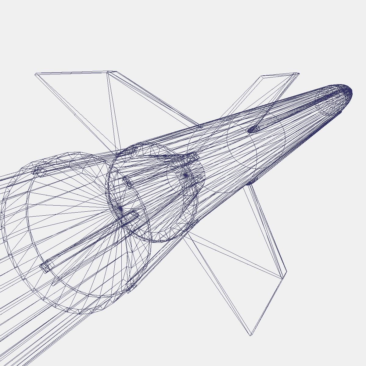 aerobee 170 raķete 3d modelis 3ds dxf fbx blend cob dae x obj 166052