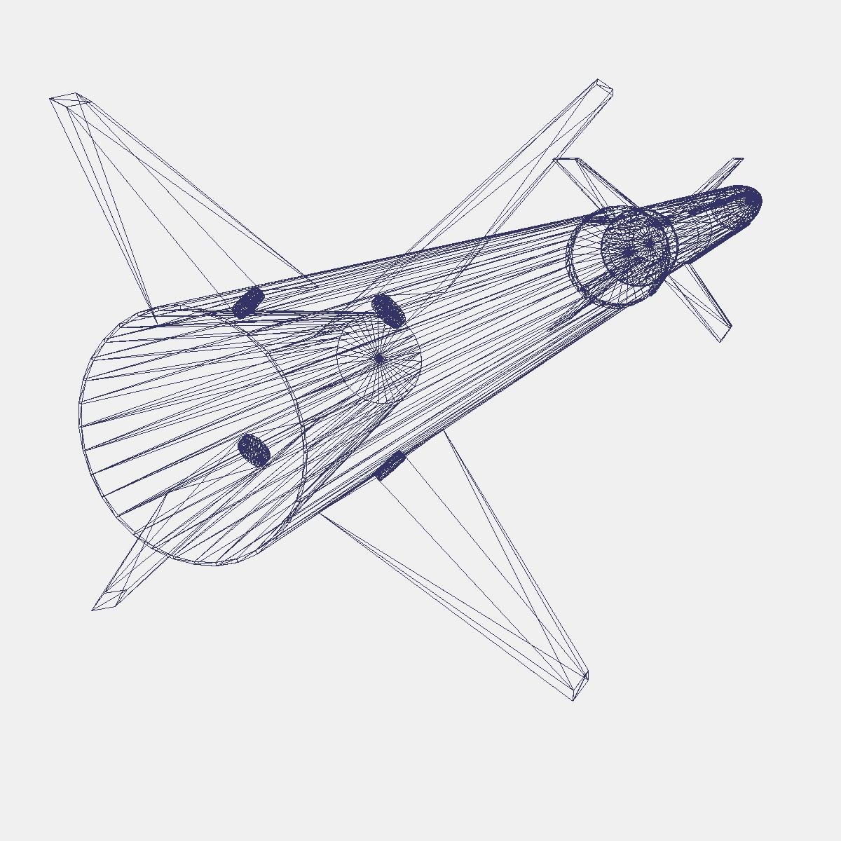 aerobee roicéad 170 3d múnla 3ds dxf fbx cumasc cob dae x obj 166053