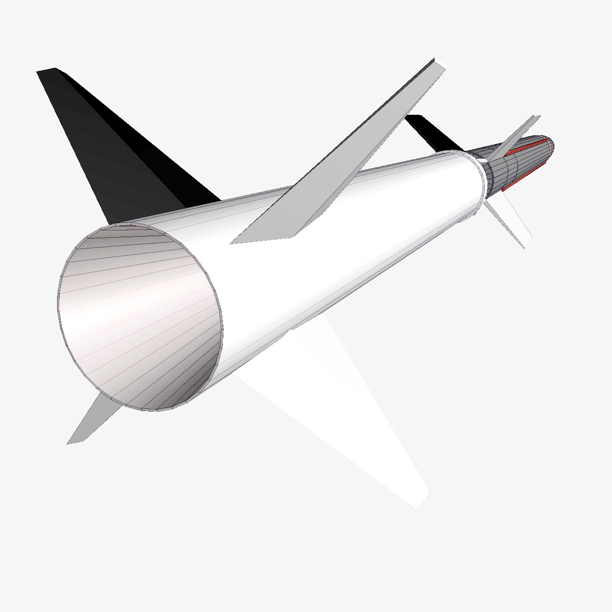 Aerobee 170 Rocket 3d model 3ds dxf fbx blend cob dae X  obj 166047