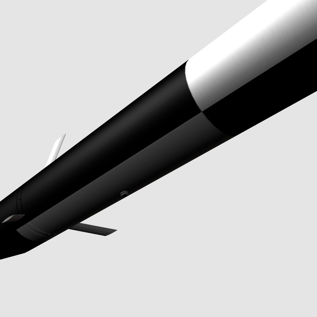 melns brant i skan raķete 3d modelis 3ds dxf fbx maisījums cob dae x obj 150731