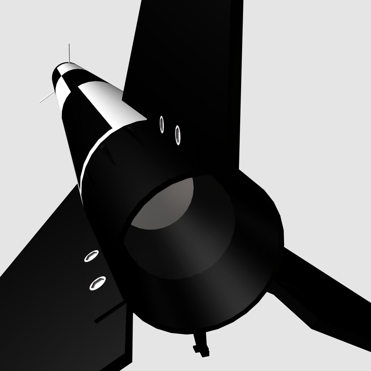 melns brant i skan raķete 3d modelis 3ds dxf fbx maisījums cob dae x obj 150732