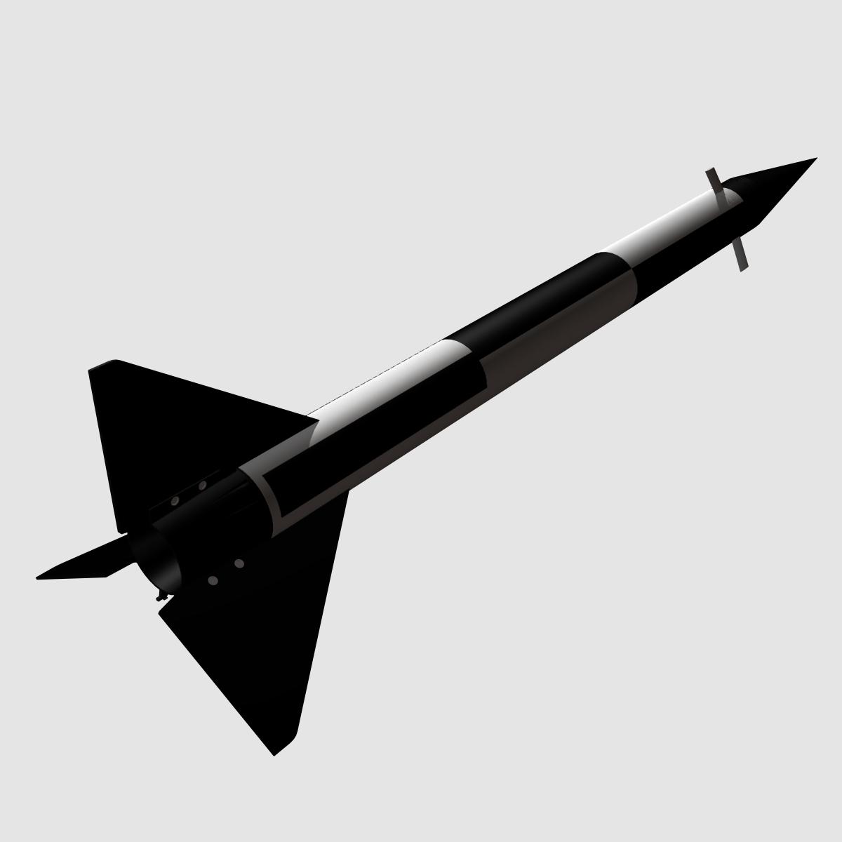 melns brant i skan raķete 3d modelis 3ds dxf fbx maisījums cob dae x obj 150733