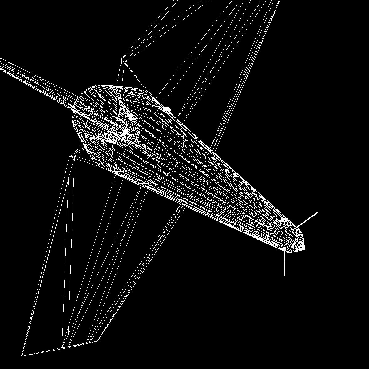black brant ii sounding rocket 3d model 3ds dxf cob x obj 150853