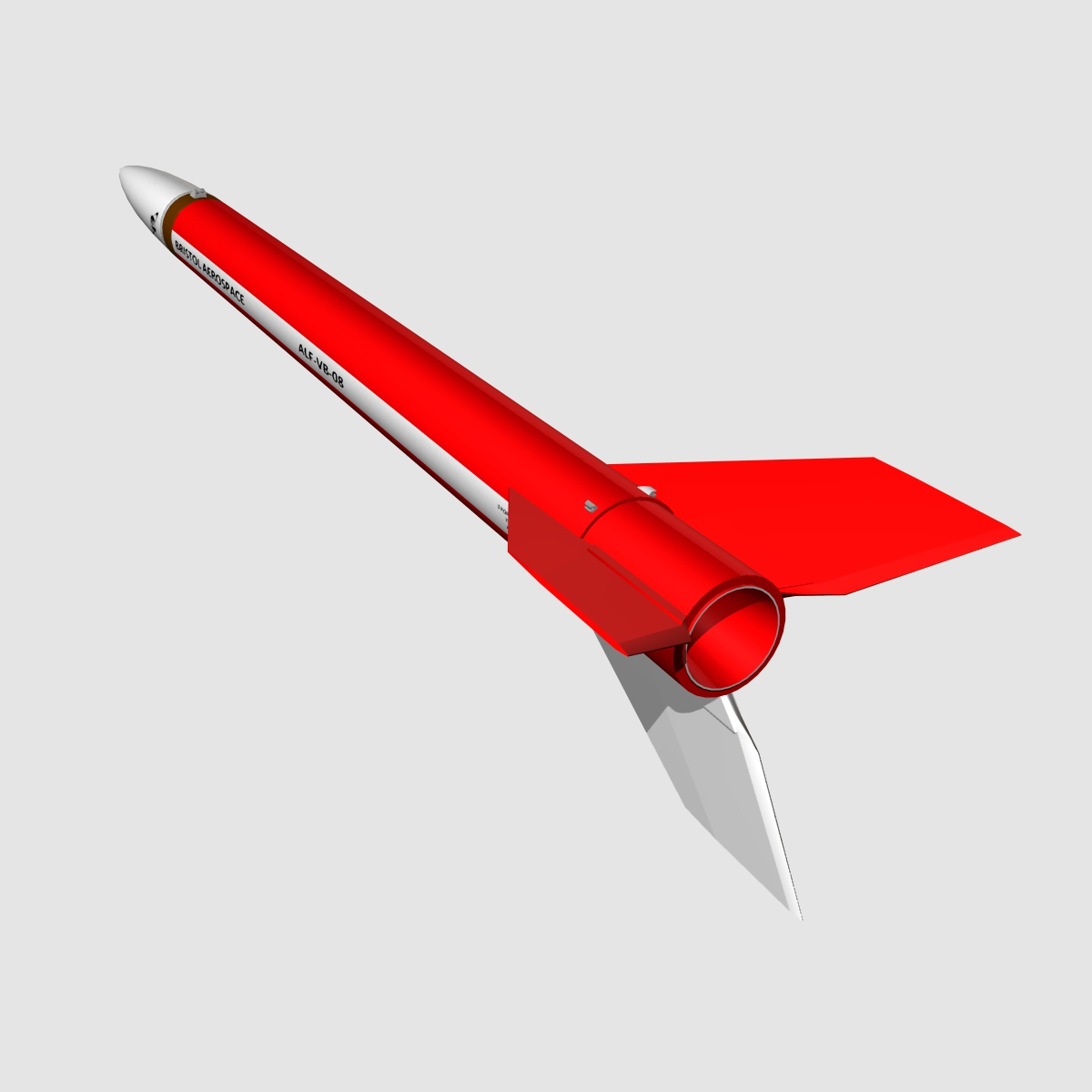 black brant vb sounding rocket 3d model 3ds dxf cob x obj 150870