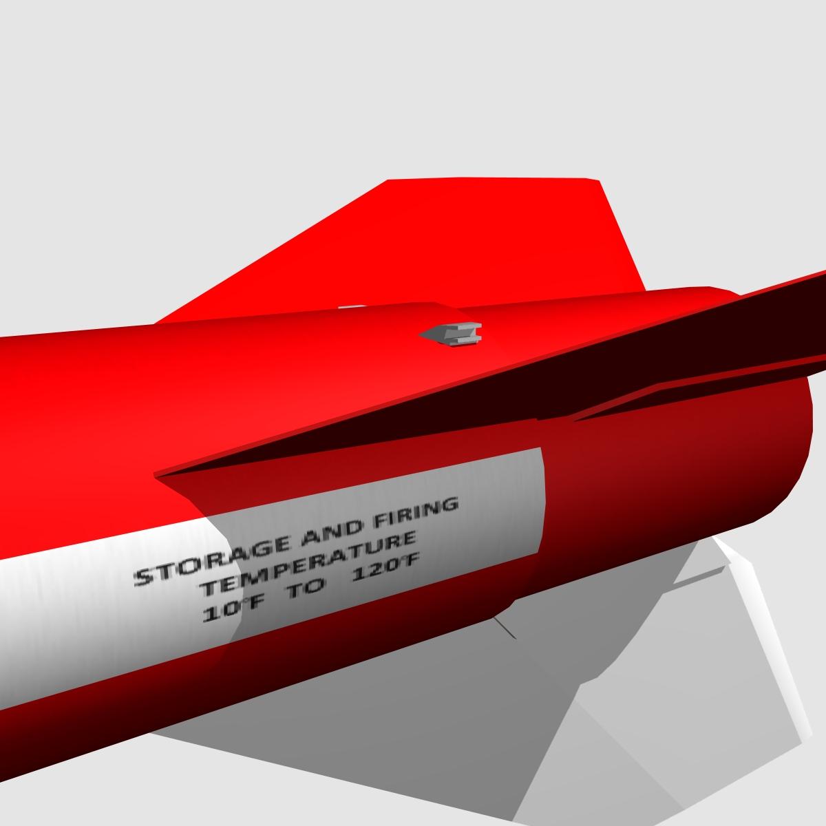 black brant vb sounding rocket 3d model 3ds dxf cob x obj 150871