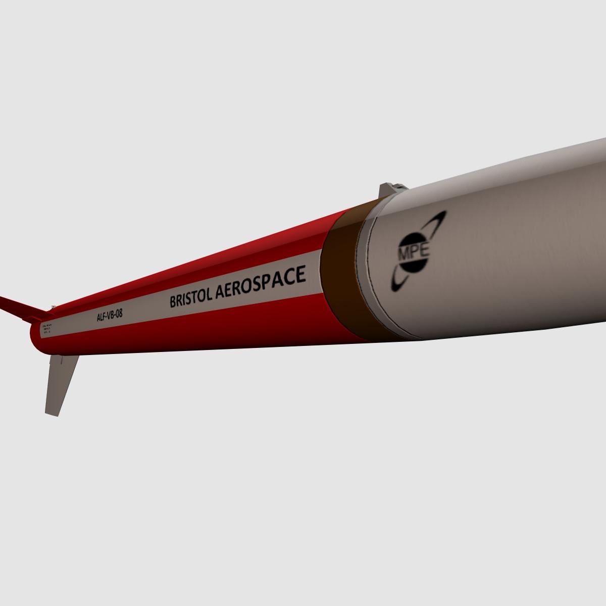 black brant vb sounding rocket 3d model 3ds dxf cob x obj 150875