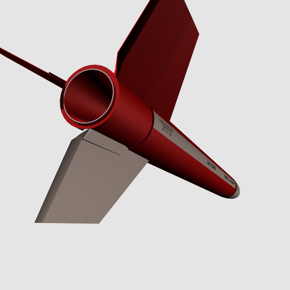 black brant vb sounding rocket 3d model 3ds dxf cob x obj 150876