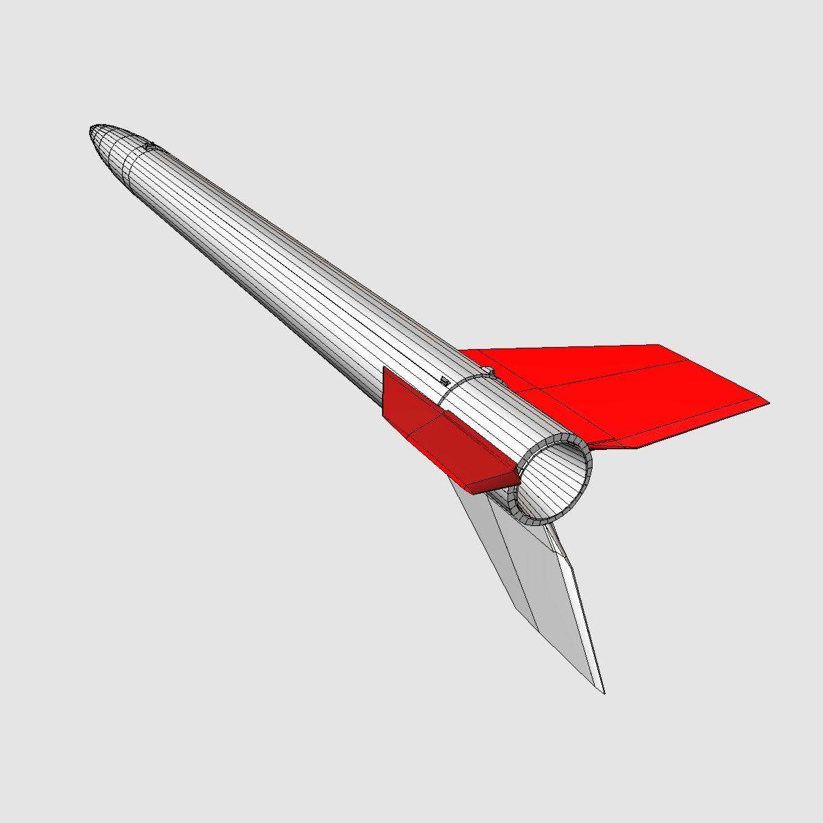 black brant vb sounding rocket 3d model 3ds dxf cob x obj 150877