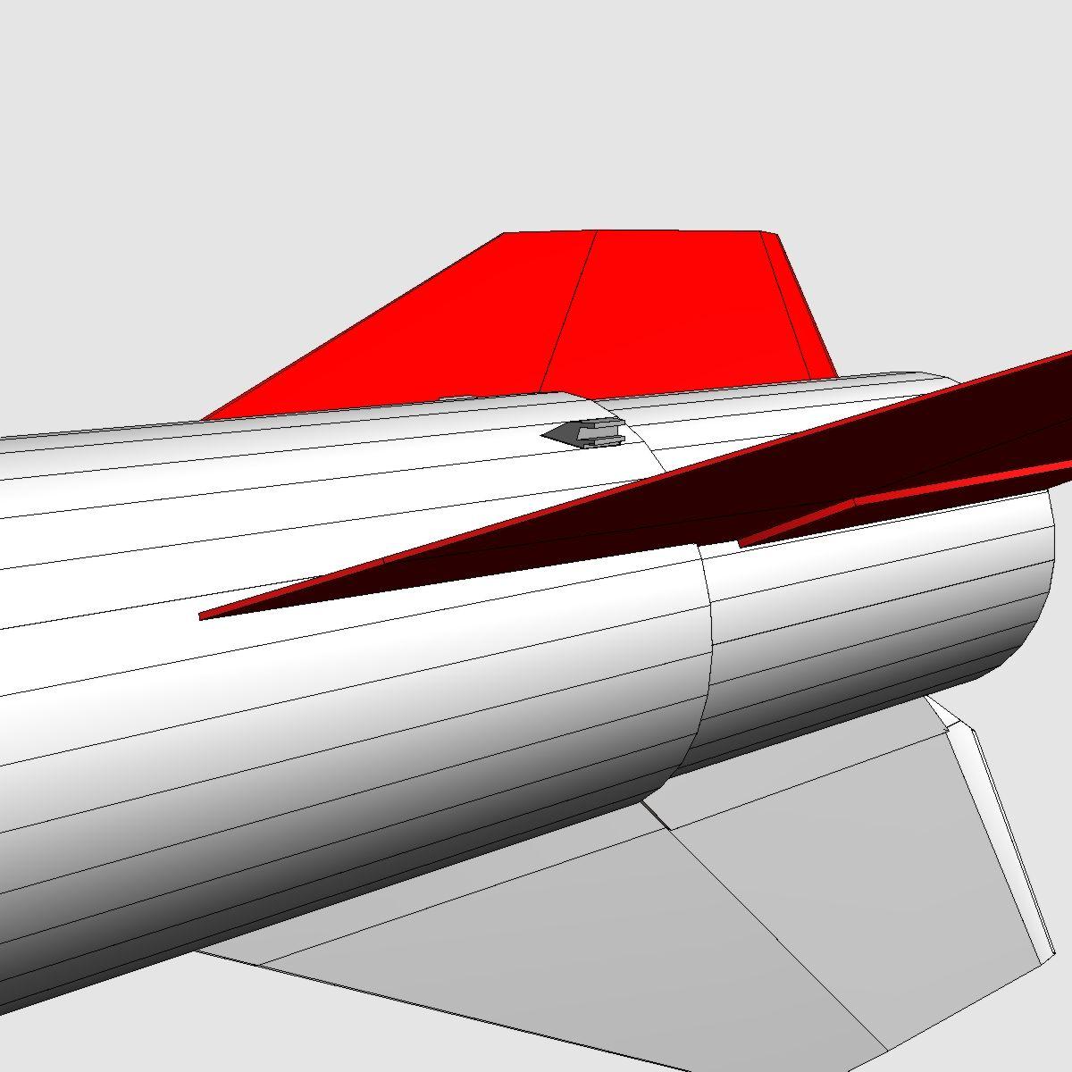 black brant vb sounding rocket 3d model 3ds dxf cob x obj 150878