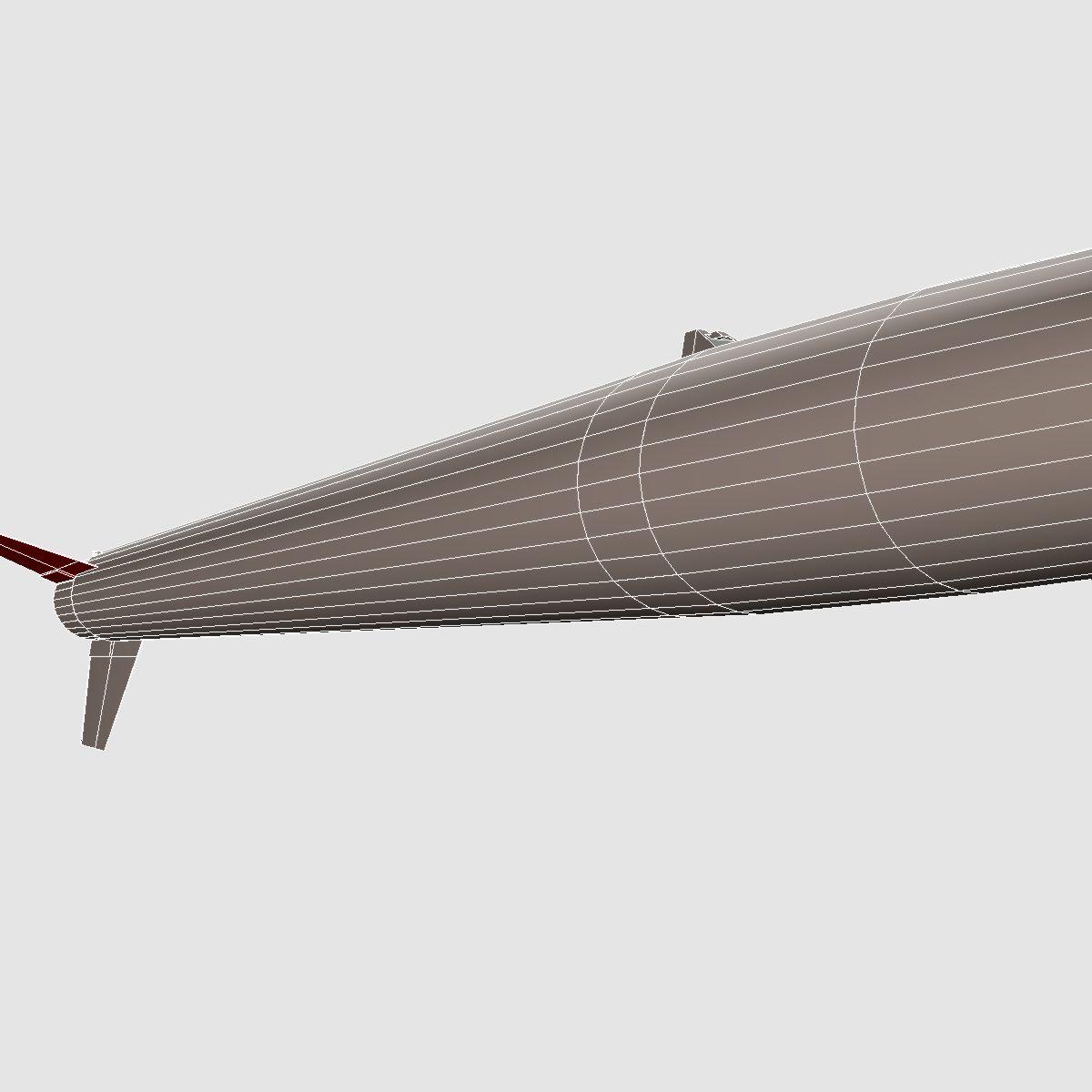 black brant vb sounding rocket 3d model 3ds dxf cob x obj 150882