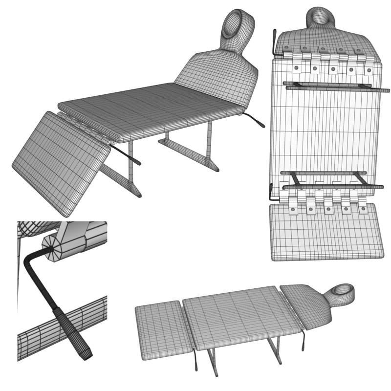 xiropractortable 3d model obj 156051