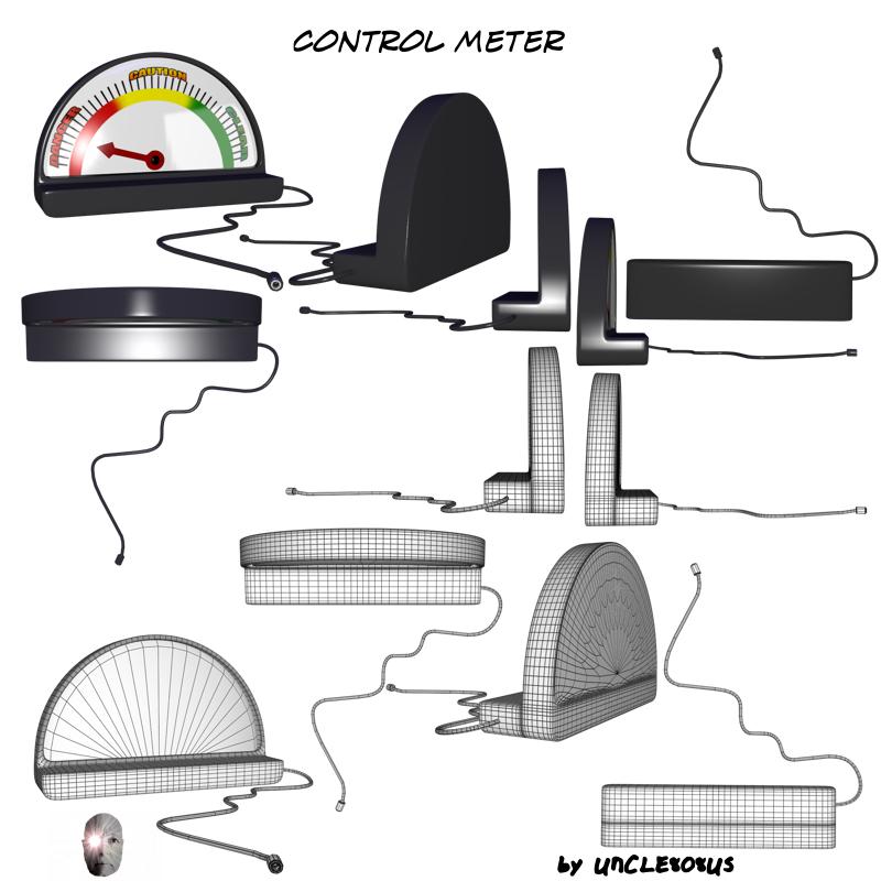 control meter 3d model obj 162002