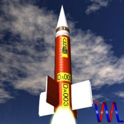 French Dauphin Sounding Rocket ( 38.92KB jpg by VisualMotion )