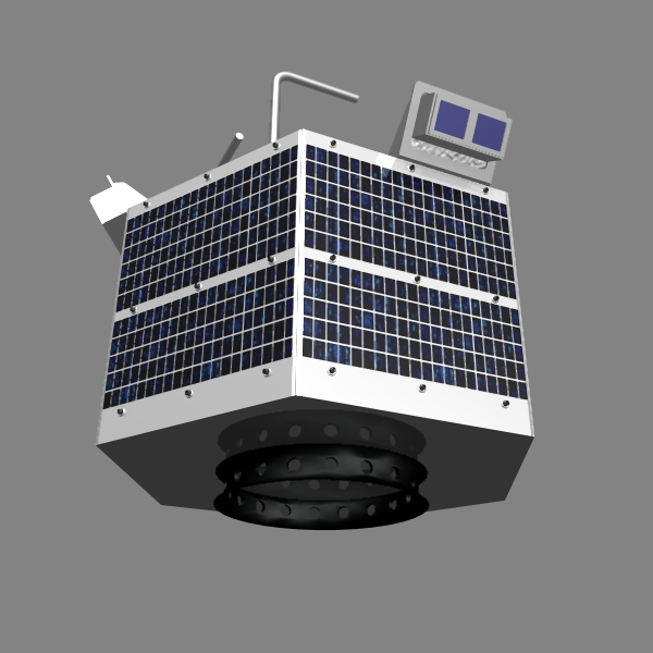 iranian satellite fajr 3d model 3ds dxf cob x obj 158223