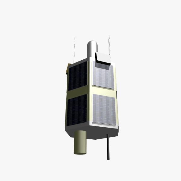 iranian satellite tolou 3d model 3ds dxf cob x obj 158030