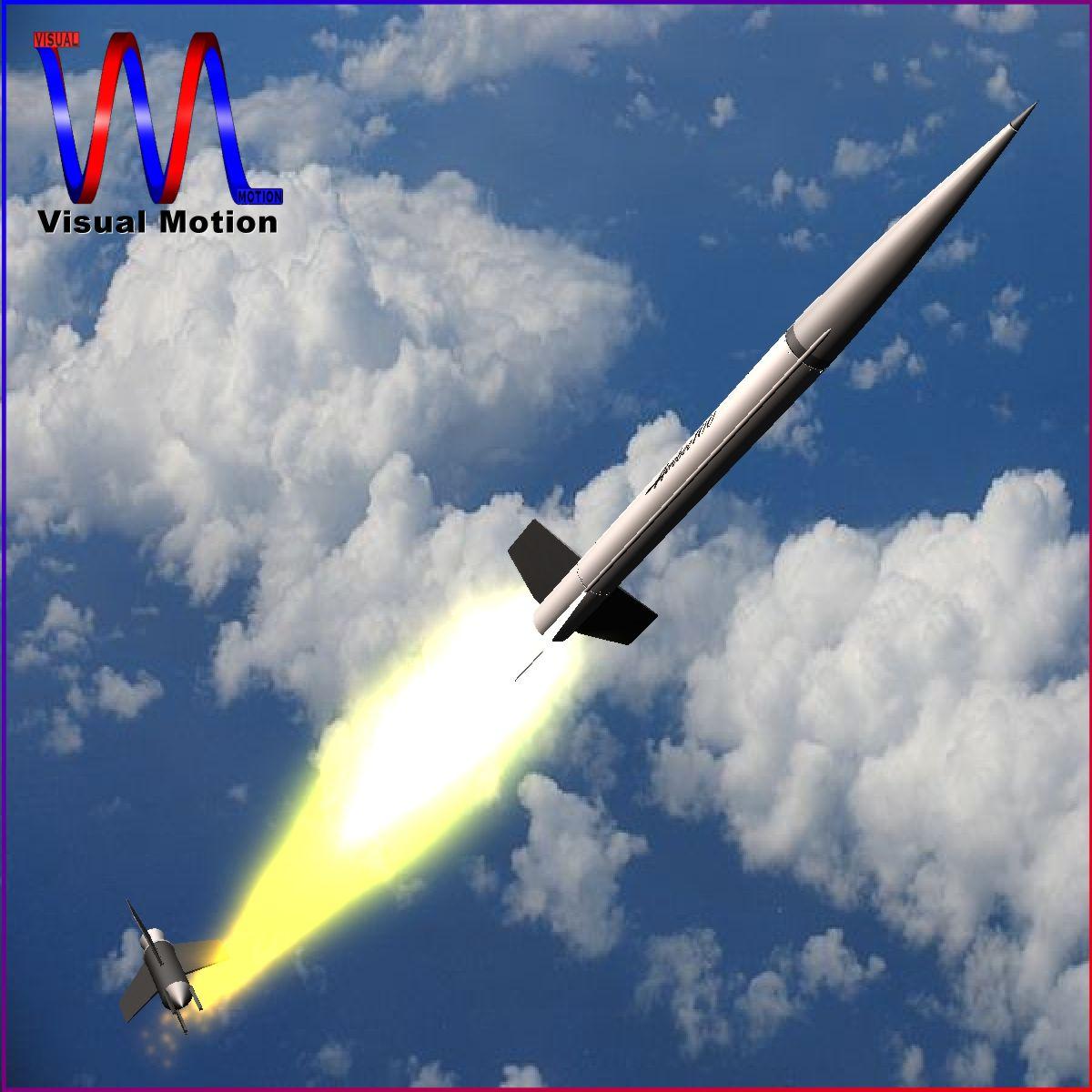 nasa aerobee 100 rocket 3d model 3ds dxf fbx blend cob dae x  obj 158430