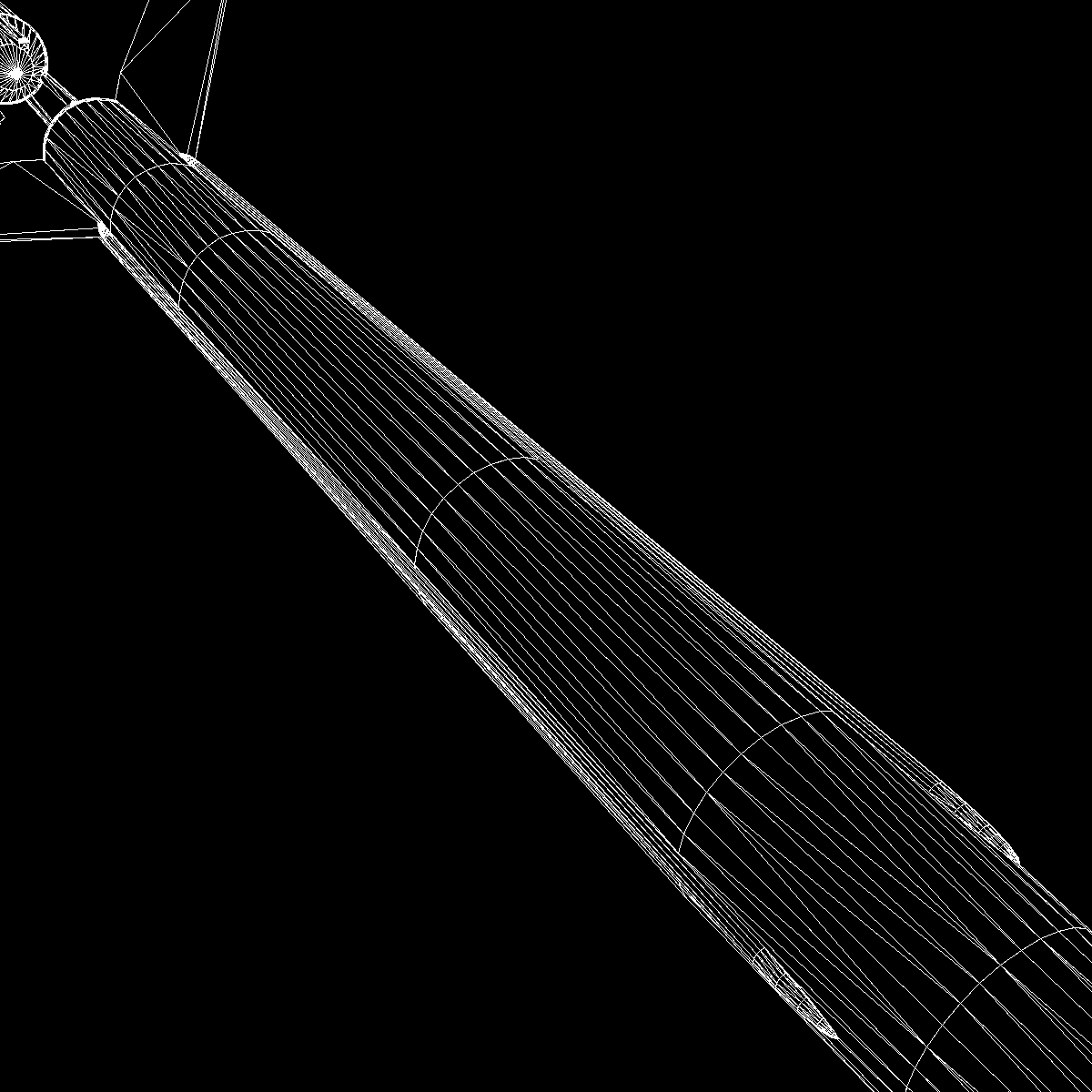 nasa aerobee 100 rocket 3d model 3ds dxf fbx blend cob dae x  obj 158439