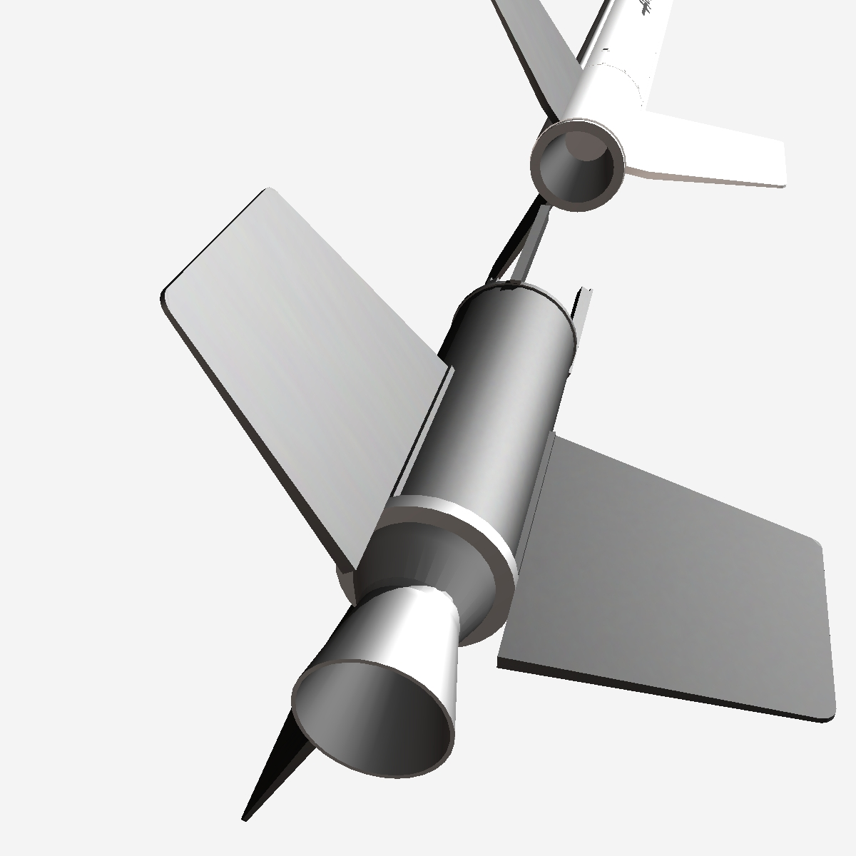 nasa aerobee 100 rocket 3d model 3ds dxf fbx blend cob dae x  obj 158443