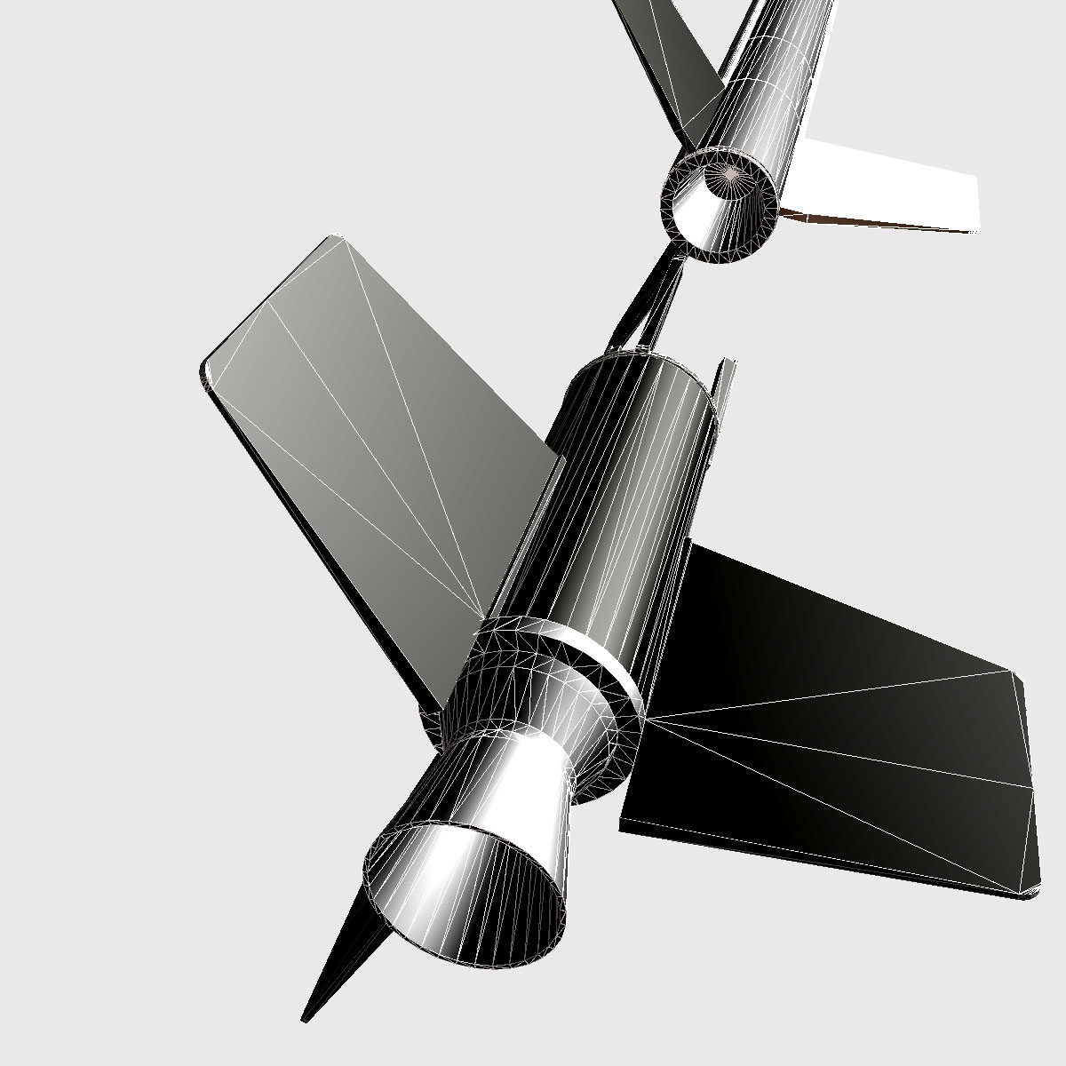 nasa aerobee 100 rocket 3d model 3ds dxf fbx blend cob dae x  obj 158444