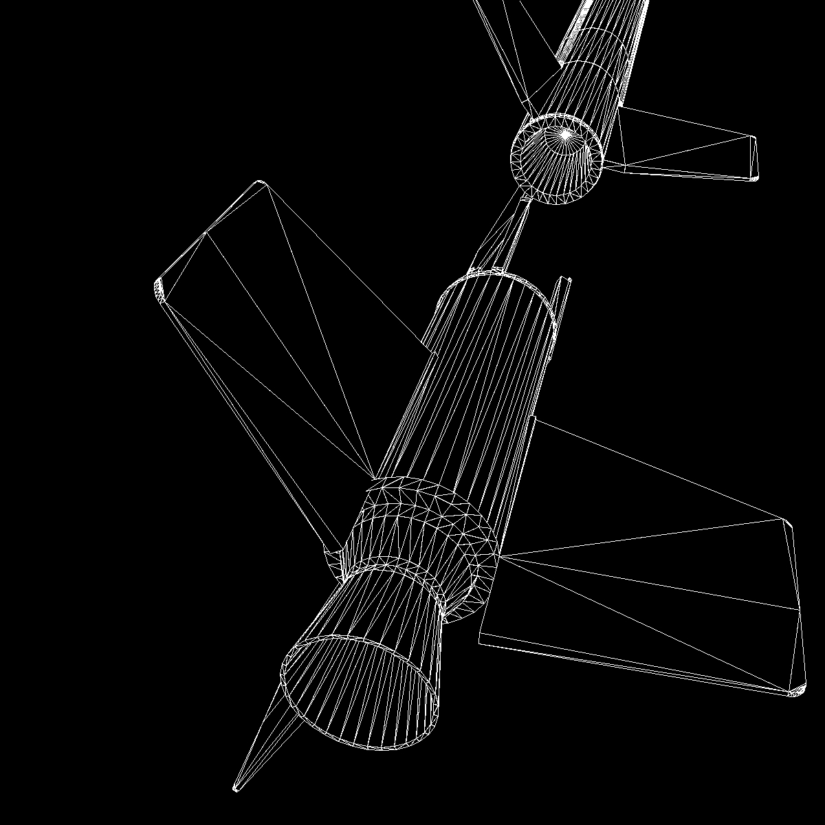nasa aerobee 100 rocket 3d model 3ds dxf fbx blend cob dae x  obj 158445
