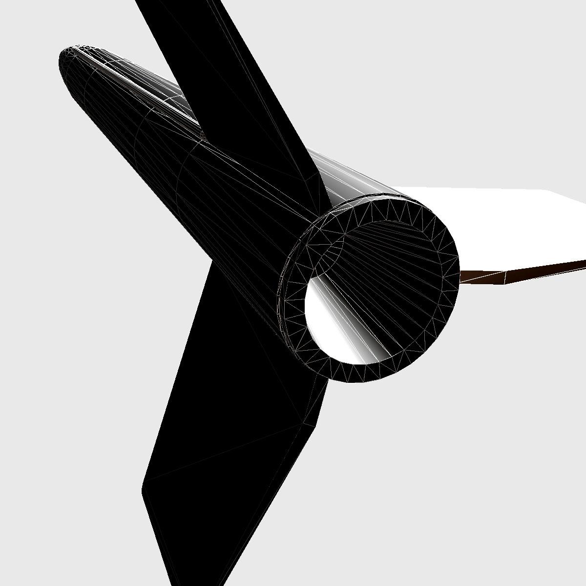 nasa aerobee 100 rocket 3d model 3ds dxf fbx blend cob dae x  obj 158447